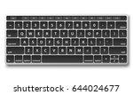 black keyboard object on white... | Shutterstock .eps vector #644024677