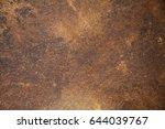 corten  rustic steel plate ... | Shutterstock . vector #644039767