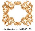 gold frame on a white...   Shutterstock . vector #644088133