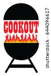 cookout with grill is an... | Shutterstock .eps vector #644096617
