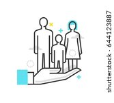 color box icon  family... | Shutterstock .eps vector #644123887