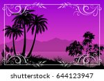 exotic landscape  tropical... | Shutterstock . vector #644123947