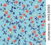 seamless vector composition of... | Shutterstock .eps vector #644130583