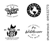 hand drawn wanderlust logotypes ... | Shutterstock .eps vector #644132773