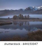 misty autumn morning  a... | Shutterstock . vector #644153347