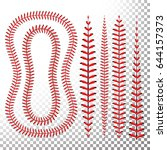 baseball stitches vector set....