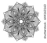 mandalas for coloring book.... | Shutterstock .eps vector #644163163