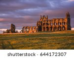 Whitby Abbey In Yorkshire  Uk