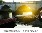 group of boats with their...