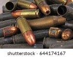 Heap Of Gun Bullets. Weapon...