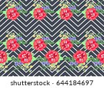 seamless gorgeous pattern in... | Shutterstock .eps vector #644184697