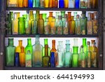 Old German Bottles Of Colored...