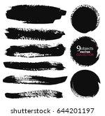 large grunge elements set.... | Shutterstock .eps vector #644201197