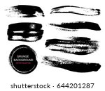 large grunge elements set.... | Shutterstock .eps vector #644201287