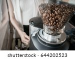Coffee Bean In Coffee Machine...