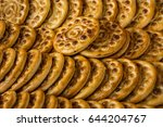 rows and piles of fuman klucheh ... | Shutterstock . vector #644204767
