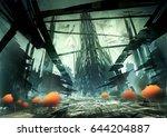 digital illustration of fantasy ... | Shutterstock . vector #644204887