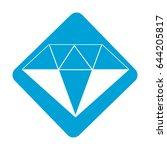 label beautiful gem diamond to...   Shutterstock .eps vector #644205817