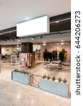 mock up  horizontal white empty ... | Shutterstock . vector #644206273