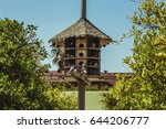 Wooden Dovecote With A Roof...