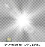 vector transparent sunlight... | Shutterstock .eps vector #644213467