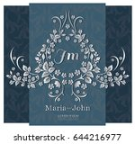 wedding invitation luxury card... | Shutterstock .eps vector #644216977