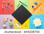 school supplies at abstract...   Shutterstock . vector #644228743