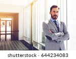 successful businessman dressed... | Shutterstock . vector #644234083