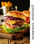 closeup of delicious fresh... | Shutterstock . vector #644241637