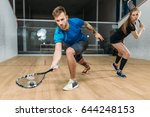 Squash Game Training  Players...