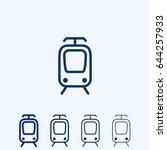 train line icon | Shutterstock .eps vector #644257933