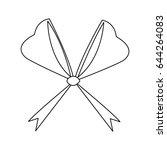 bow ribbon decoration xmas... | Shutterstock .eps vector #644264083