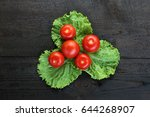 tomato still life  tomato on... | Shutterstock . vector #644268907