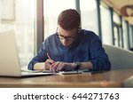 young entrepreneur dressed in... | Shutterstock . vector #644271763