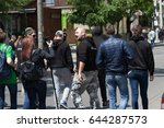 protestant neo nazis on the... | Shutterstock . vector #644287573