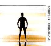 black silhouette of muscular... | Shutterstock . vector #64428808