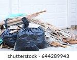 construction debris pile  | Shutterstock . vector #644289943
