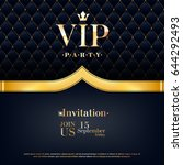 vip party premium invitation... | Shutterstock .eps vector #644292493