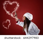 smelling the lovely aroma   Shutterstock . vector #644297983