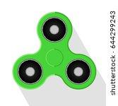 hand spinner green vector... | Shutterstock .eps vector #644299243