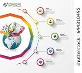 infographic design template.... | Shutterstock .eps vector #644310493