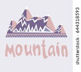 image of mountains with... | Shutterstock .eps vector #644318593