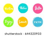 set of colorful universal use... | Shutterstock .eps vector #644320933