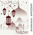 ramadan kareem greeting card or ... | Shutterstock .eps vector #644322643