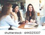 group of female bloggers... | Shutterstock . vector #644325337