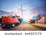logistics import export... | Shutterstock . vector #644327173
