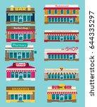 set of vector flat design... | Shutterstock .eps vector #644335297
