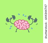 brain workout. vector concept... | Shutterstock .eps vector #644344747