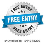 free entry round isolated... | Shutterstock .eps vector #644348203