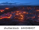 Surface Flow Lava Oozes Out Of...